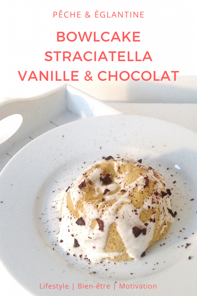 Bowlcake vanille et chocolat - Pêche & Eglantine