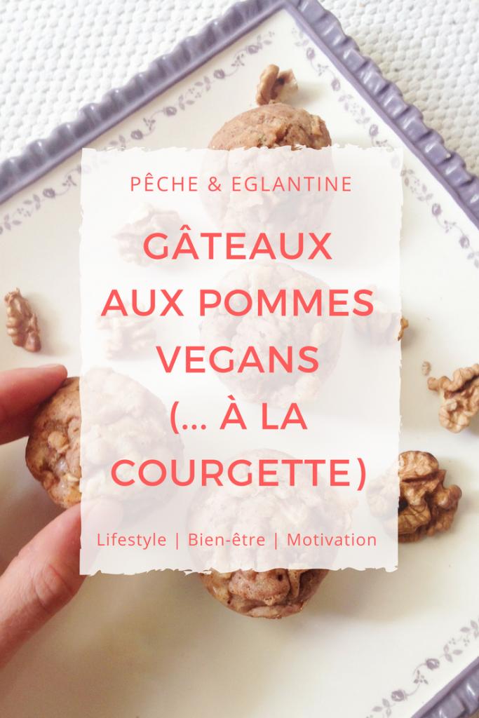 Gâteaux aux pommes vegans, sains et délicieux (;;; à la courgette) - Pêche & Eglantine
