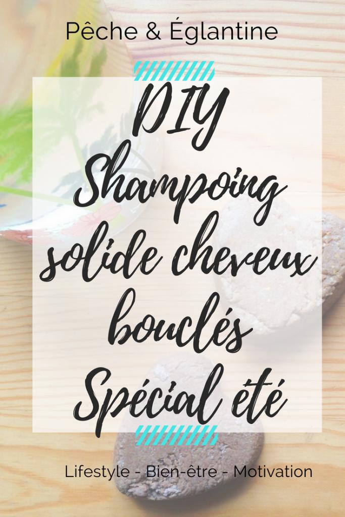 DIY Shampoing solide pour cheveux bouclés et ondulés spécial été - Pêche & Eglantine